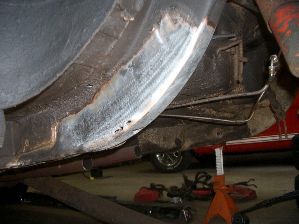 Left rear frame rail 1