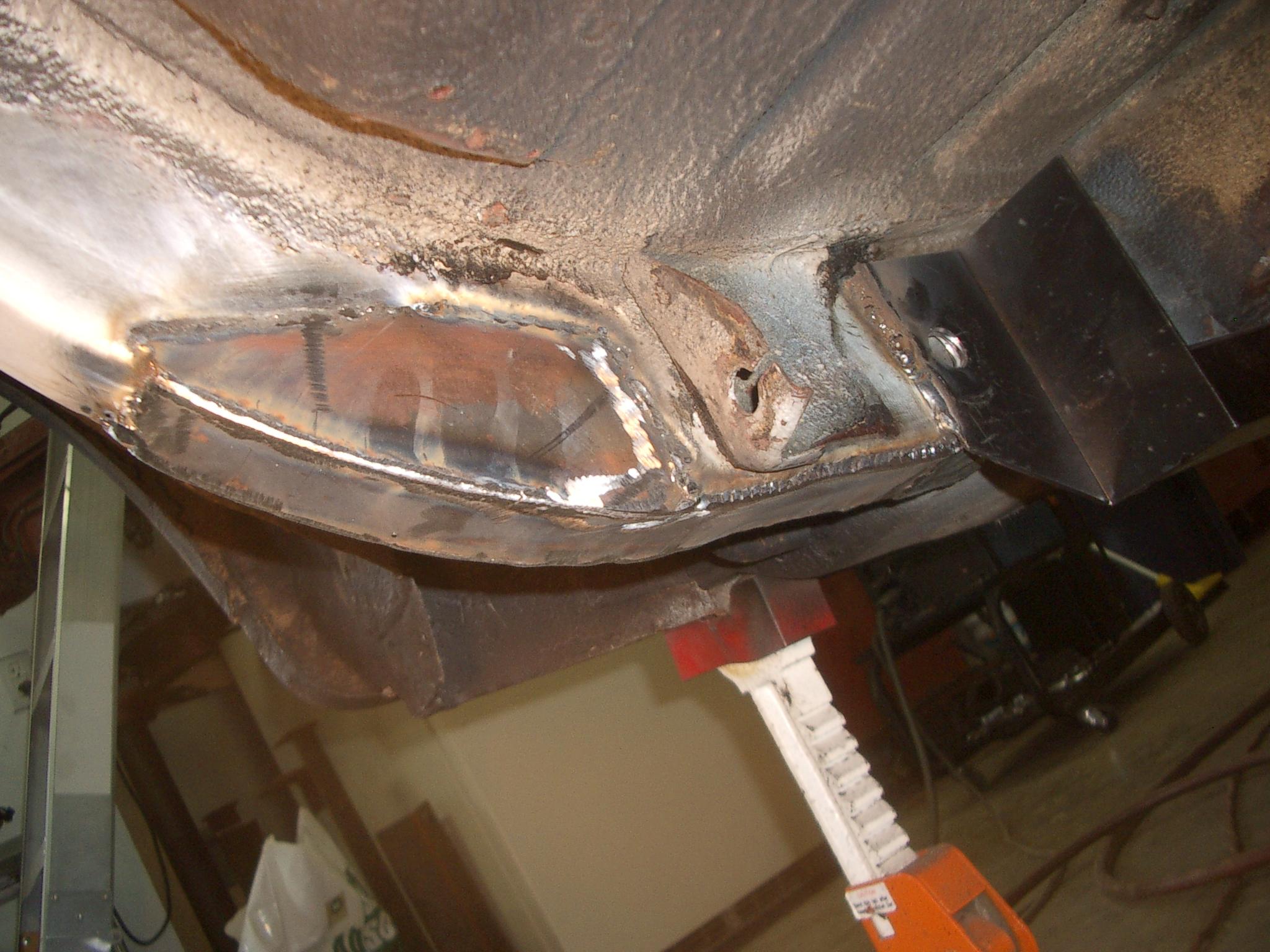 68 Mustang Front Frame Rail Repair.1965 Mustang Rust Repair Mustang ...