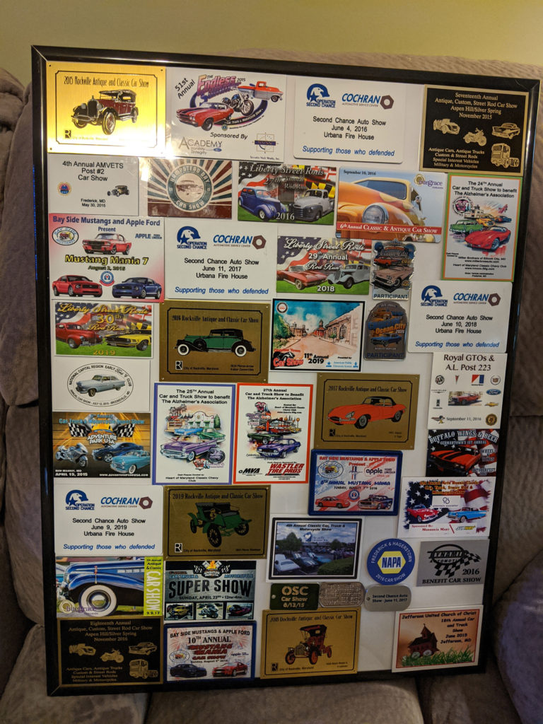 Picture of mounted dash plaques