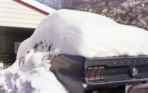 Picture of my car covered in snow